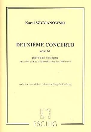 Concerto Violon n° 2 op. 61 SZYMANOWSKI Partition laflutedepan