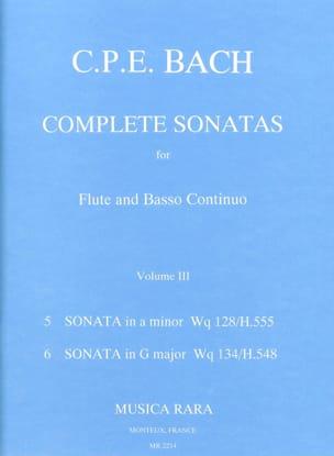 Complete sonatas Volume 3 - Flute Bc laflutedepan