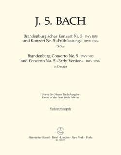 Concerto Brandebourgeois N° 5 und Konzert N°5 Frühfassung laflutedepan