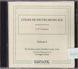 Jean-Pierre Couleau - CD - Musical Dictation Course - Volume 3 - Partition - di-arezzo.com