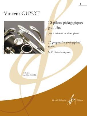 10 pièces pédagogiques graduées - Volume 1 Vincent Guyot laflutedepan