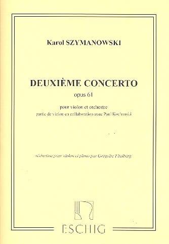 Concerto Violon n° 2 op. 61 - SZYMANOWSKI - laflutedepan.com