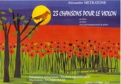 23 Chansons pour le violon Alexandre Metratone Partition laflutedepan