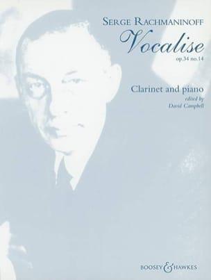 Vocalise op. 34 n° 14 - Clarinette RACHMANINOV Partition laflutedepan
