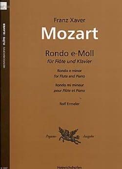 Rondo e-moll - Flöte Klavier Franz Xaver Mozart Partition laflutedepan