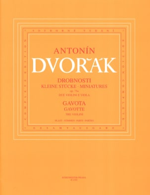 Miniatures op. 75a et Gavotte DVORAK Partition Trios - laflutedepan