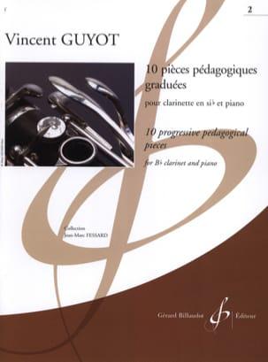 10 pièces pédagogiques graduées - Volume 2 Vincent Guyot laflutedepan