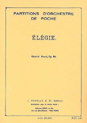 Elégie, op. 24 - Conducteur - FAURÉ - Partition - laflutedepan.com
