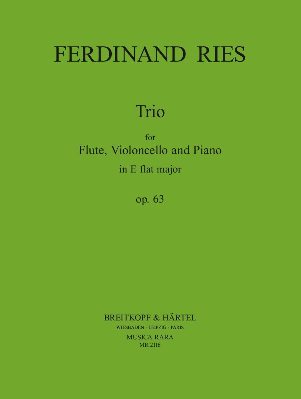 Trio Op. 63 - Ferdinand Ries - Partition - Trios - laflutedepan.com