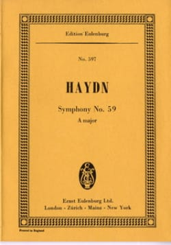 Symphonie Nr. 59 A-Dur - HAYDN - Partition - laflutedepan.com