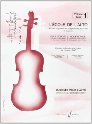 L' Ecole de l' Alto Volume 1 Frédéric Lainé Partition laflutedepan