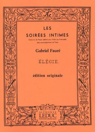 Gabriel Fauré - Elégie Op. 24 - Partition - di-arezzo.fr