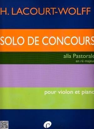 Solo de Concours H. Lacourt-Wolff Partition Violon - laflutedepan