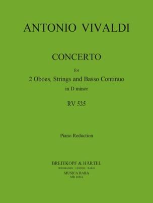 Concerto In D Minor Rv 535 / P 302- 2 Oboes Piano VIVALDI laflutedepan