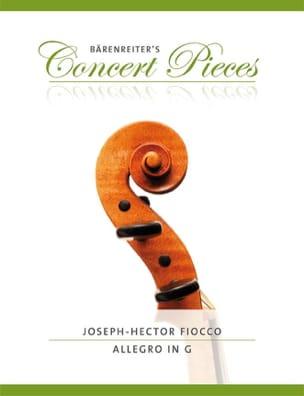 Allegro en Sol Joseph Hector Fiocco Partition Violon - laflutedepan