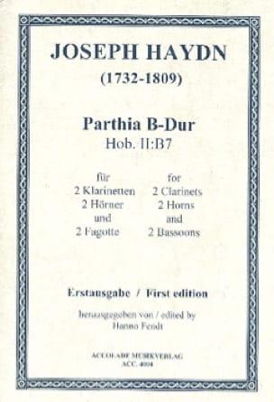 Sextuor Vents Hob Ii:b7 - HAYDN - Partition - laflutedepan.com