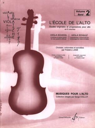 L' Ecole de L'alto Volume 2 Frédéric Lainé Partition laflutedepan