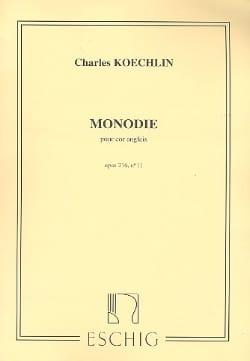 Monodie op. 216 n° 11 Charles Koechlin Partition laflutedepan