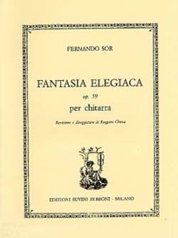 Fantasia elegiaca op. 59 SOR Partition Guitare - laflutedepan