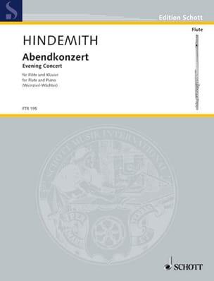 Abendkonzert Hindemith Partition Flûte traversière - laflutedepan