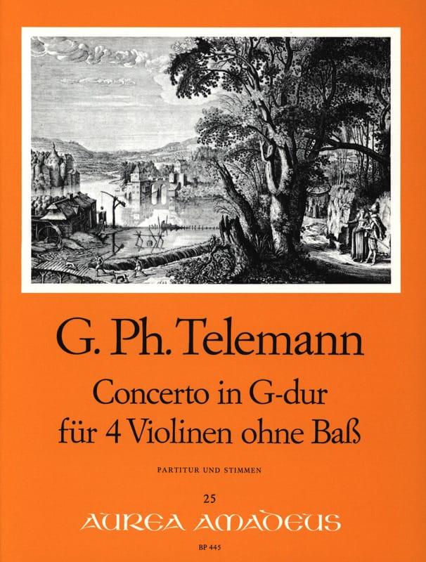 Concerto en Sol Majeur Für 4 Violinen Ohne Bass Twv40:201 - laflutedepan.com