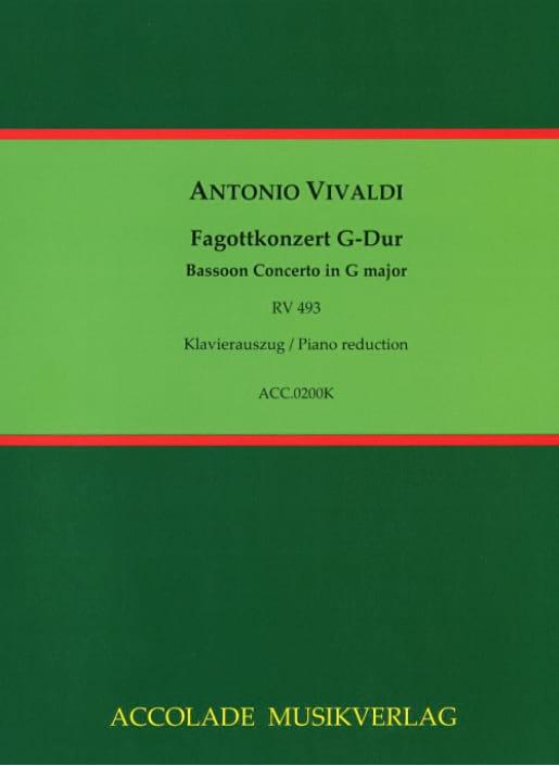 Konzert G Dur RV 493 für Fagott, Streicher und Cembalo - laflutedepan.com