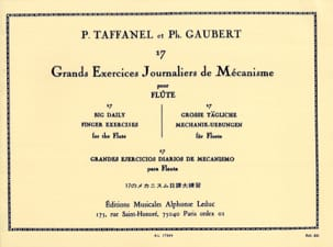 17 Grands Exercices Journaliers TAFFANEL - GAUBERT laflutedepan