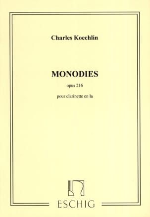 Monodies op. 216 Charles Koechlin Partition Clarinette - laflutedepan