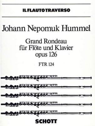 Grand rondeau op. 126 - Flöte Klavier HUMMEL Partition laflutedepan
