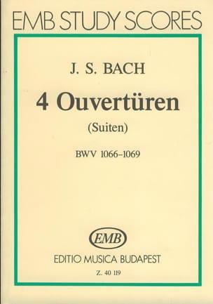 4 Ouvertüren Suiten BWV 1066-1069 - Partitur - BACH - laflutedepan.com