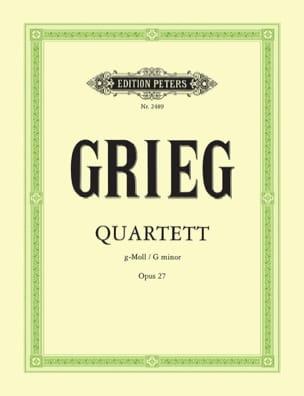 Streichquartett g-moll op. 27 -Stimmen GRIEG Partition laflutedepan