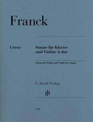 Sonate pour Violon en La majeur - Urtext FRANCK Partition laflutedepan