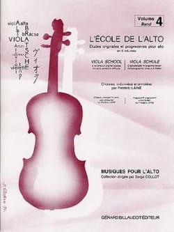 L' Ecole de l' Alto Volume 4 Frédéric Lainé Partition laflutedepan