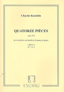 14 Pièces op.179 - Volume 1 Charles Koechlin Partition laflutedepan