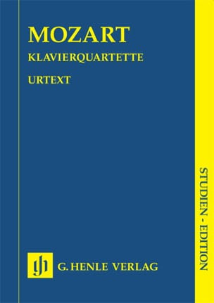 Quatuors avec piano KV 478 et 493 MOZART Partition laflutedepan
