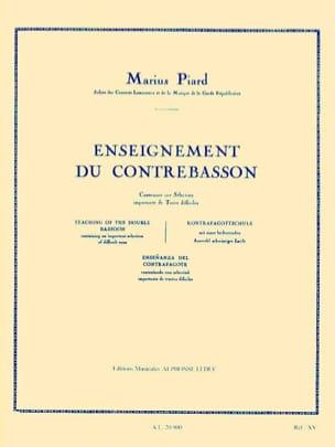 Enseignement du Contrebasson Marius Piard Partition laflutedepan