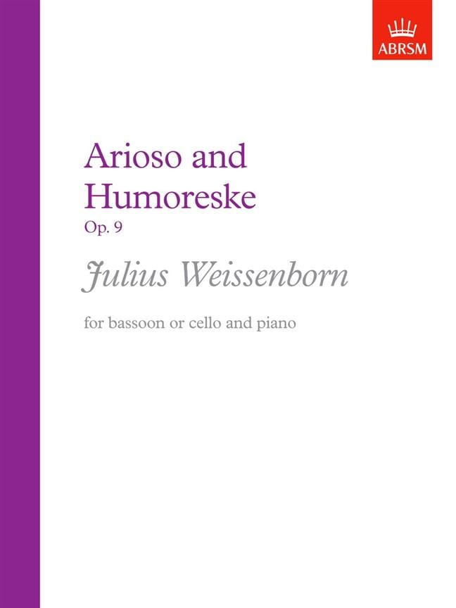 Arioso und Humoreske op. 9 - Julius Weissenborn - laflutedepan.com