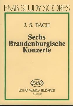 6 Brandenburgische Konzerte BACH Partition Petit format - laflutedepan
