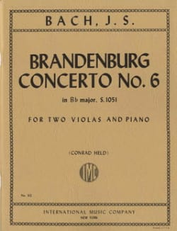 Brandenburg Concerto n° 6 BWV 1051 -2 Violas piano BACH laflutedepan