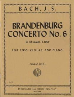 BACH - Brandenburg Concerto No. 6 BWV 1051 - 2 Violas piano - Partition - di-arezzo.com