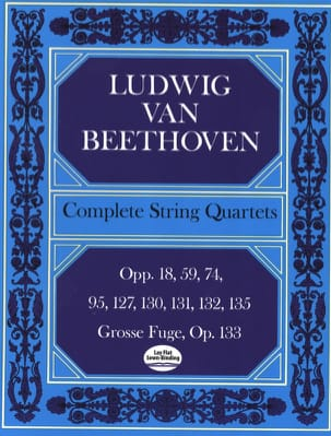 Intégrale des quatuors à cordes - Conducteur BEETHOVEN laflutedepan