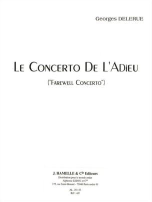 Concerto de l'Adieu Georges Delerue Partition Violon - laflutedepan