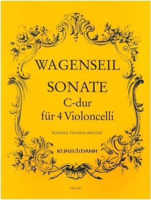 Sonate C-Dur - 4 Violoncelli Georg Christoph Wagenseil laflutedepan