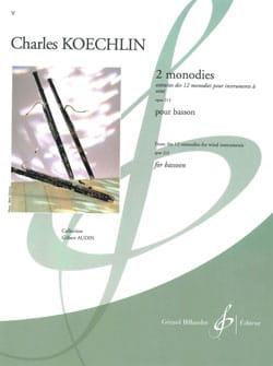 2 Monodies Op. 213 Charles Koechlin Partition Basson - laflutedepan