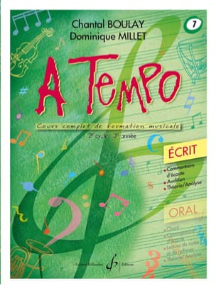 A Tempo Volume 7 - Ecrit BOULAY - MILLET Partition laflutedepan