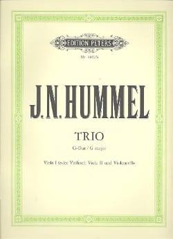 Streichtrio G-Dur - HUMMEL - Partition - Trios - laflutedepan.com