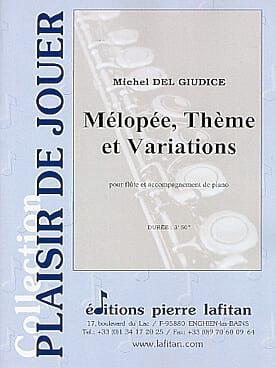 Mélopée, Thème et Variations Michel Delgiudice Partition laflutedepan