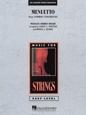 Menuetto from Symphony Concertante - score & parts MOZART laflutedepan