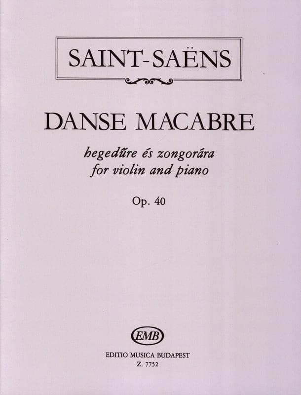 Danse Macabre Op. 40 - SAINT-SAËNS - Partition - laflutedepan.com