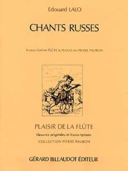 Chants russes - Flûte piano LALO Partition laflutedepan